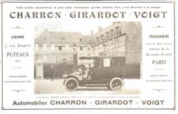 "PUB VEHICULES  "" CHARRON - GIRARDOT - VOIGT  ""   1905 ( 1 ) - Other"