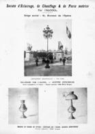 """PUB    """" SOCIETE D'ECLAIRAGE De CHAUFFAGE Et DE FORCE MOTRICE  """" Par L'ALCOOL    1900 - Ciencia & Tecnología"""