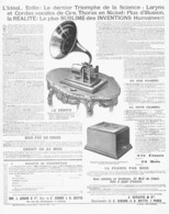 """PUB PHONOGRAPHE   """" LE ZENITH """" 1901 ( 1 ) - Musique & Instruments"""