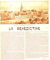 """PUB-reportage  """" LA BENEDICTINE """"    1900 - Alcolici"""