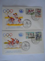 België Belgium 1963 FDC Wielrijden Cyclisme  Olympische Spelen Jeux Olympique Tokio Cob 1255-1258 - FDC