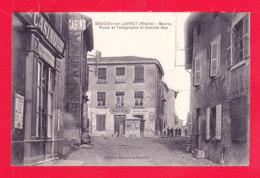 F-69-Soucieu En Jarret-02Ph104  Mairie, Poste Et Télégraphe Et Grande Rue, Cpa BE - France