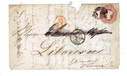 MARCOPHILIE - GDE BRETAGNE - 1852 - N°6 SUR LETTRE -OB AMBULANT MARITIME GB PAR CALAIS 30 SEPT. 52 - Briefe U. Dokumente