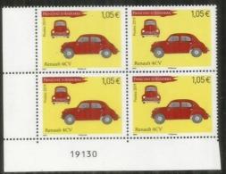 ANDORRA. Renault 4CV, Année 1947.  Un Bloc De 4 Timbres Neufs. Coin NUMÉROTÉ,   Année 2019. - Autos