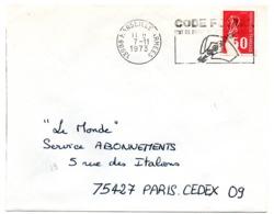 BOUCHES Du RHONE - Dépt N° 13 = MARSEILLE ARMEES 1973 =  FLAMME SECAP Illustrée ' CODE POSTAL / Mot Passe' - Zipcode