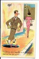 Jacques FAIZANT - Une Femme Mode Années 50 Et Un Militaire - Fox éditeur - Format Cpa - VENTE DIRECTE X - Moda