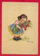 CARTOLINA VG ITALIA - Bambina Con Papaveri - MARIAPIA - Ballerini & Fratini FIRENZE - 10 X 15 - 1949 - Altre Illustrazioni