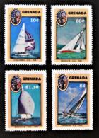 "GRENADINES - COUPE DE VOILE ""AMERICA"" 1987 - NEUFS ** - YT 1389/92 - MI 1583/87 - Grenade (1974-...)"