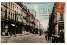 LILLE RUE LEON GAMBETTA COMMERCES TRES ANIMEE - Lille