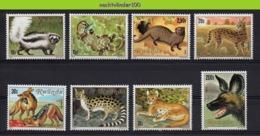 Nff038 FAUNA ZOOGDIEREN KAT HOND JAKHALS OTTER CAT DOG MONGOOSE JACKAL MAMMALS WILDLIFE RWANDA 1981 PF/MNH # - Wild