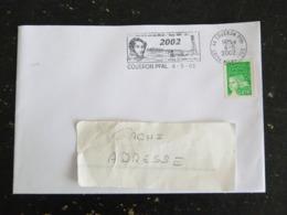 COUERON PPAL - LOIRE ATLANTIQUE - FLAMME ALCIDE D'ORBIGNY 2002 SUR MARIANNE LUQUET - Poststempel (Briefe)
