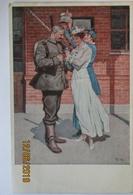 Künstlerkarte Wennerberg, Vor Der Abfahrt, Landwehr Pionier Comp. 1916 (65057) - Weltkrieg 1914-18