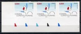 RC 13726 FRANCE N° 337 CONSEIL CONSTITUTIONNEL X3 AUTOADHÉSIFS COTE 12€ TB NEUF ** - Sellos Autoadhesivos