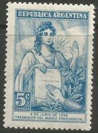 Argentina - 1946 Juan Peron 5c MNH **     Sc 552 - Argentina