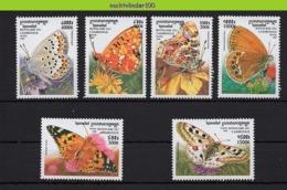 Nff039 FAUNA VLINDERS BUTTERFLIES SCHMETTERLINGE MARIPOSAS PAPILLONS CAMBODGE 1999 PF/MNH - Schmetterlinge