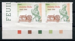 RC 13733 FRANCE N° 371 JULIETTE DODU PAIRE AUTOADHÉSIFS COTE 8€ TB NEUF ** - France