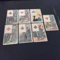 LOT  De 7 Chromo Carte A Jouer En L Etat Sur Les Photos - Trade Cards