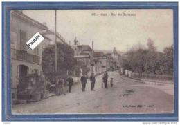 Carte Postale 01. Gex  Café Des Gares  Rue Des Terreaux Trés Beau Plan - Gex