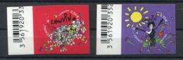 RC 13735 FRANCE N° 386 / 387 COEUR DE LANVIN AUTOADHÉSIFS COTE 13€ TB NEUF ** - France