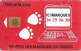 Télécarte Promotionnelles 5 U - Gn13 - Ici Marques - SO3 - France