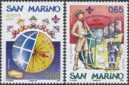 CEPT / Europa 2007 Saint Marin N° 2092 Et 2093 ** Le Scoutisme - 2007
