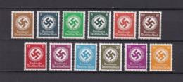 Deutsches Reich - Dienstmarken - 1934  - Michel Nr.132/143 - Postfrisch - 50 Euro - Deutschland