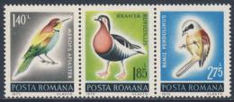Romania Romana Rumänien 1973 Mi 3106 /8 YT 2741 /3 SG 3979 /1 ** Nerops Apiaster / Ruficollis / Remiz Pendulinus - Oiseaux