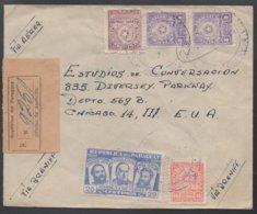 PARAGUAY - ASUNCION / 1954 LETTRE RECOMMANDEE AVION POUR LES USA - CHICAGO  (ref LE482) - Paraguay