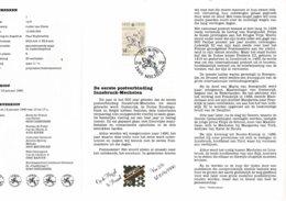 Belg. Postfolder 1 - 1990 OBP 2350 - Mechelen 13-01-1990  (2 Scans) 1ste Postverbinding Innsbrück/Mechelen - Documents De La Poste