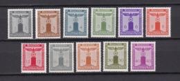 Deutsches Reich - Dienstmarken - 1942  - Michel Nr.155/165 - Postfrisch - 50 Euro - Deutschland