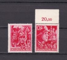 Deutsches Reich - 1945  - Michel Nr.909/910 - Postfrisch - OR - 145 Euro - Deutschland