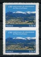 RC 13746 FRANCE N° 469 RATTACHEMENT DE NICE A LA FRANCE PAIRE AUTOADHÉSIFS COTE 10€ TB NEUF ** - France