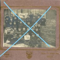 Photo ROUX ? Souvret Saint Ghislain Ecole Du Centre 1919 Remerciements Président Wilson School - Lieux
