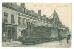 18 - VIERZON - Place De La Gare - Tramway De L'Indre -560- - Vierzon