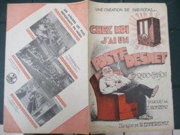 PARTITION DE MUSIQUE CHEZ MOI J'AI UN POSTE DESMET RADIO-CHANSON PAROLES DE E. ROMBEAU MUSIQUE DE R.EMMERECHTS - Pubblicitari