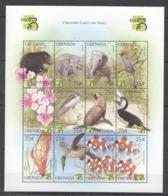O1028 GRENADA FAUNA ANIMALS BIRDS MARINE LIFE CREATURES LARGE & SMALL 1SH MNH - Stamps