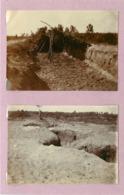CAMP DE SOUGES (gironde)-  Tranchées  (photos Guerre 1914/18 (format 8cm X 5,7cm) - War, Military