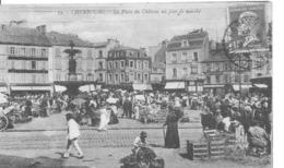 Cherbourg:la Place Du Chateau Un Jour De Marché. - Cherbourg