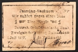 German East Africa 1 Rupie Rupia 1917 Pick#22d Lotto 2822 - Banconote