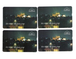 """SERIE OF 4 OPTICO CARDS PORTUGAL """"VISEU"""" EX: 8.000 - NEW/NOT USED - Portugal"""