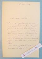 L.A.S 1903 Louis JACQUESSON DE LA CHEVREUSE Peintre & Compositeur Né à Toulouse - à Bouguereau Lettre Autographe LAS - Autographes