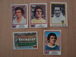 LOT DE 5 IMAGES FOOTBALL ARGENTINA 78 WORLD CUP - Edition Française