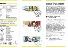 Belg. Postfolder 14 - 1990 OBP 2387/89 - Brugge/Schoten/Mechelen 6-10-1990  (2 Scans) Culturele - Documents De La Poste