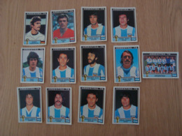 LOT DE 13 IMAGES FOOTBALL ARGENTINA 78 WORLD CUP - Edition Française