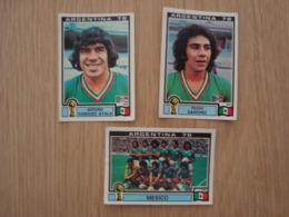 LOT DE 3 IMAGES FOOTBALL ARGENTINA 78 WORLD CUP MEXIQUE - Edition Française