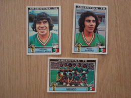 LOT DE 3 IMAGES FOOTBALL ARGENTINA 78 WORLD CUP MEXIQUE - Panini