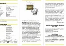 Belg. Postfolder 17 - 1990 OBP 2392 - Lier 10-11-1990  (2 Scans) Kerstmis En Nieuwjaar - Documents Of Postal Services