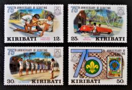 75 ANS DU SCOUTISME 1982 - NEUFS ** - YT 88/91 - MI 408/11 - Kiribati (1979-...)