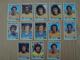 LOT DE 13 IMAGES FOOTBALL ARGENTINA 78 WORLD CUP BRESIL - Edition Française