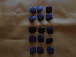 Bouton Ancien Cuir - Lot De 15 Boutons - - Buttons